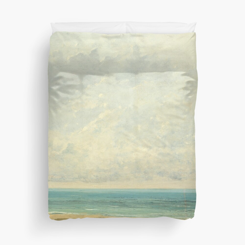 Calm Sea Oil Painting by Gustave Courbet Duvet Cover