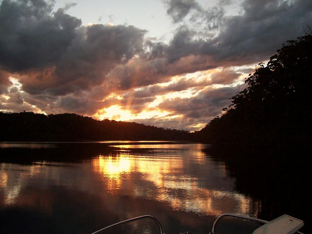 Mallacoota lake by Adam Cole
