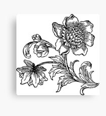 Flower Drawing Canvas Print