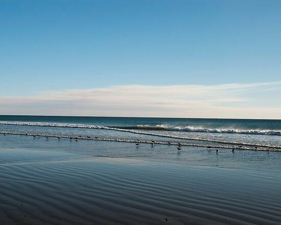 Blue beach ripples landscape photography by SammyPhoto