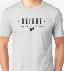 Beirut coordinates T-Shirt