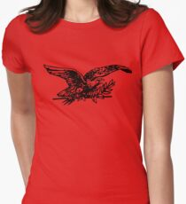 Bird Drawing Womens Fitted T-Shirt