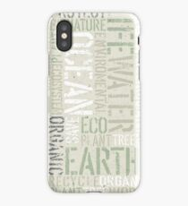 Ecology Typography iPhone Case