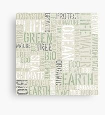 Ecology Typography Metal Print