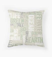 Ecology Typography Throw Pillow