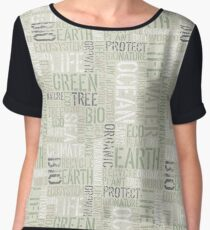 Ecology Typography Chiffon Top