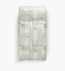Ecology Typography Duvet Cover