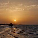 Sunset at the beach by Viktoryia Vinnikava