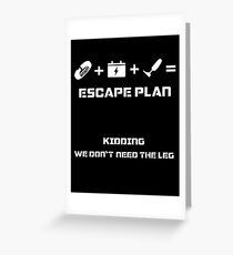 The Guardian's Escape Plan Greeting Card
