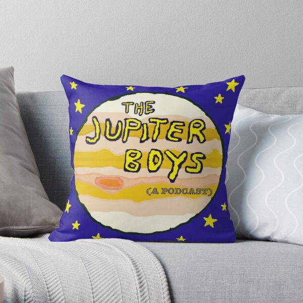 Jupiter Boys Logo Throw Pillow
