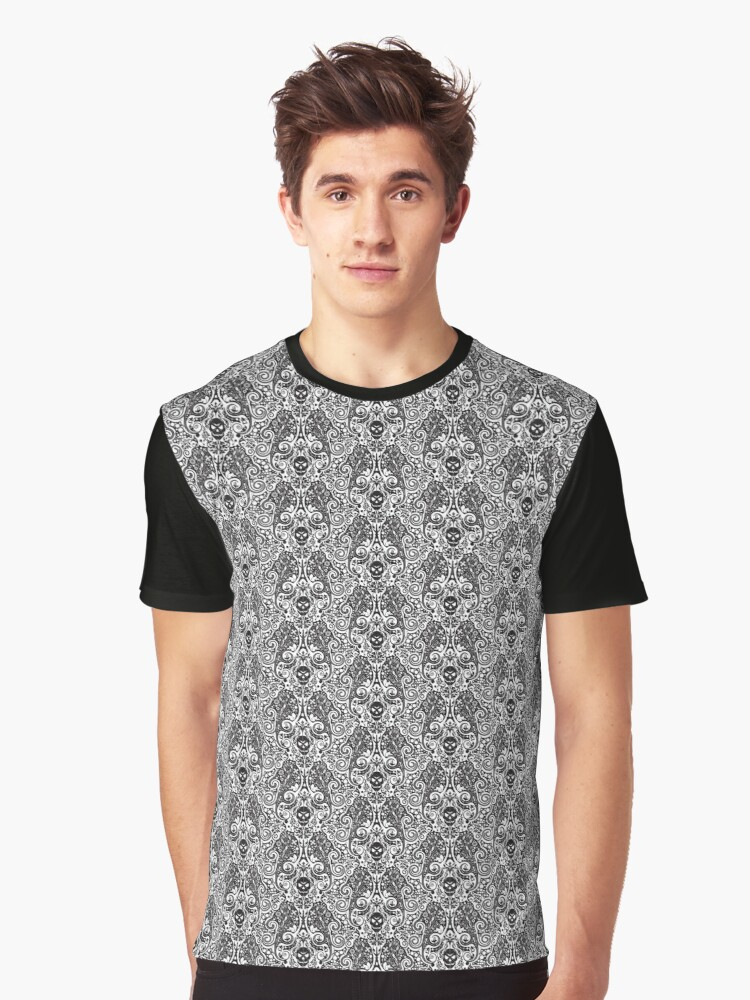Skull pattern 04 Graphic T-Shirt Front