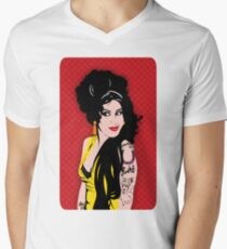 Amy For Amber By Mikesbliss Men's V-Neck T-Shirt