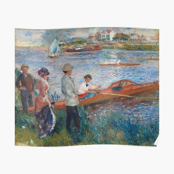 Oarsmen at Chatou Painting by Auguste Renoir Poster