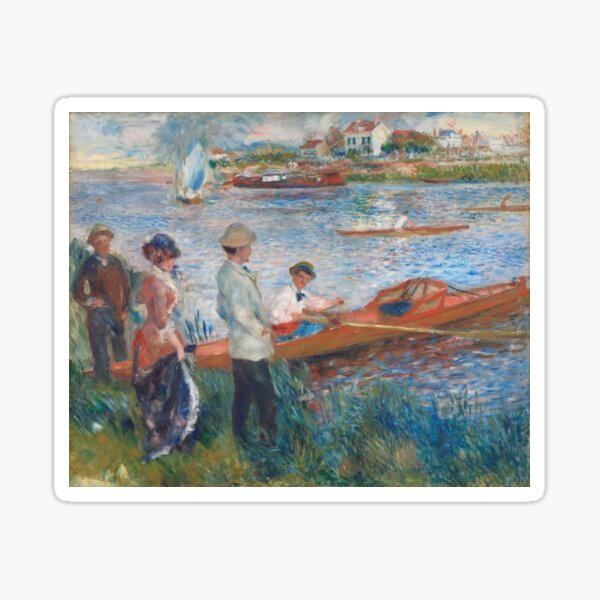 Oarsmen at Chatou Painting by Auguste Renoir Sticker
