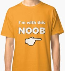 I'm with this Noob - PC Gamer Master Race Left Classic T-Shirt