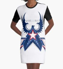 Rebellious Falcon Graphic T-Shirt Dress