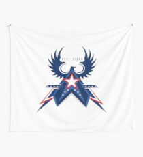 Rebellious Falcon Wall Tapestry