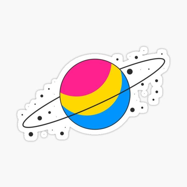 Pansexual Pride Planet Sticker