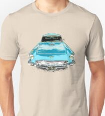Blue Birdy Classic Car Unisex T-Shirt