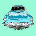 Blue Birdy Classic Car by Mark Malinowski