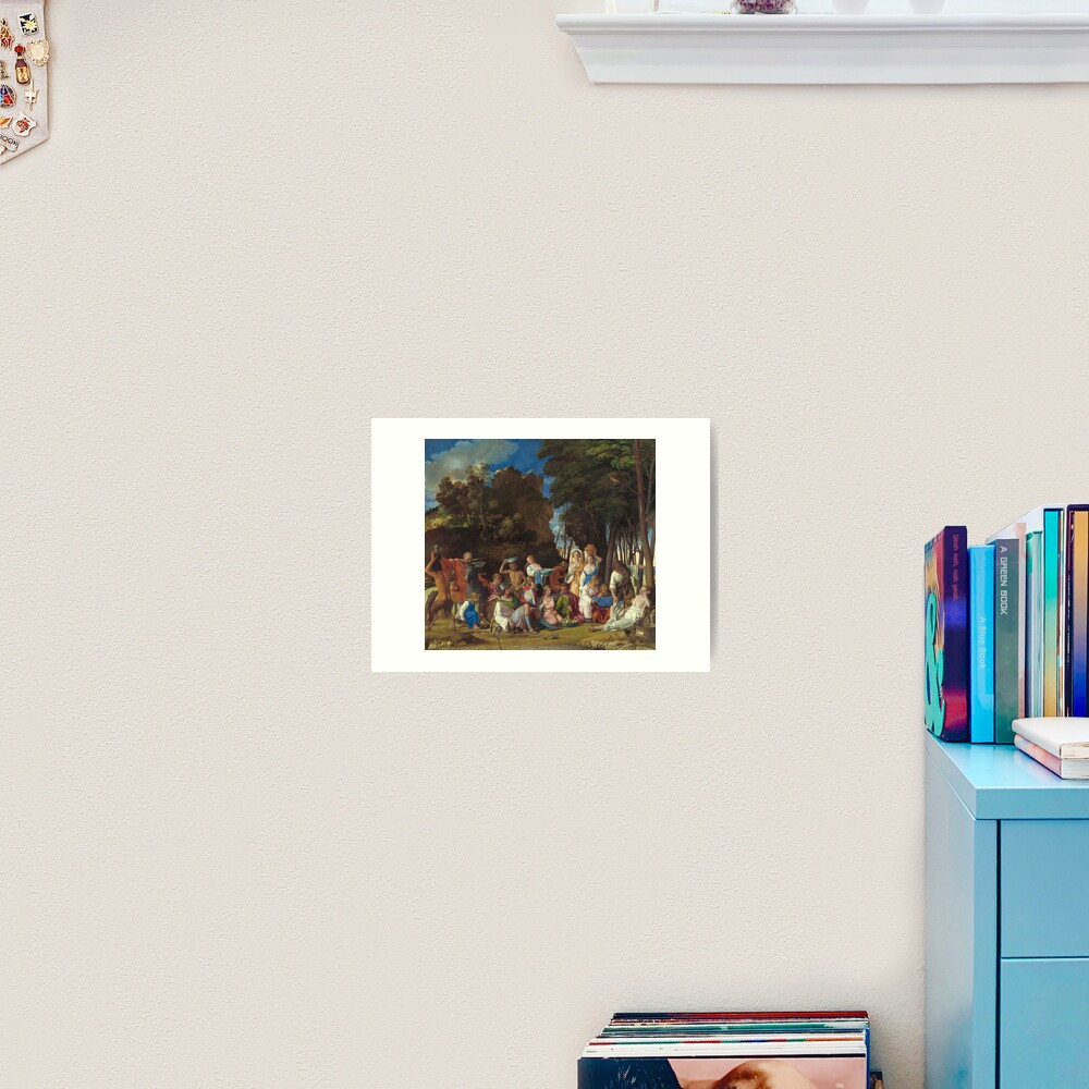 The Feast of the Gods Painting by Giovanni Bellini and Titian Art Print