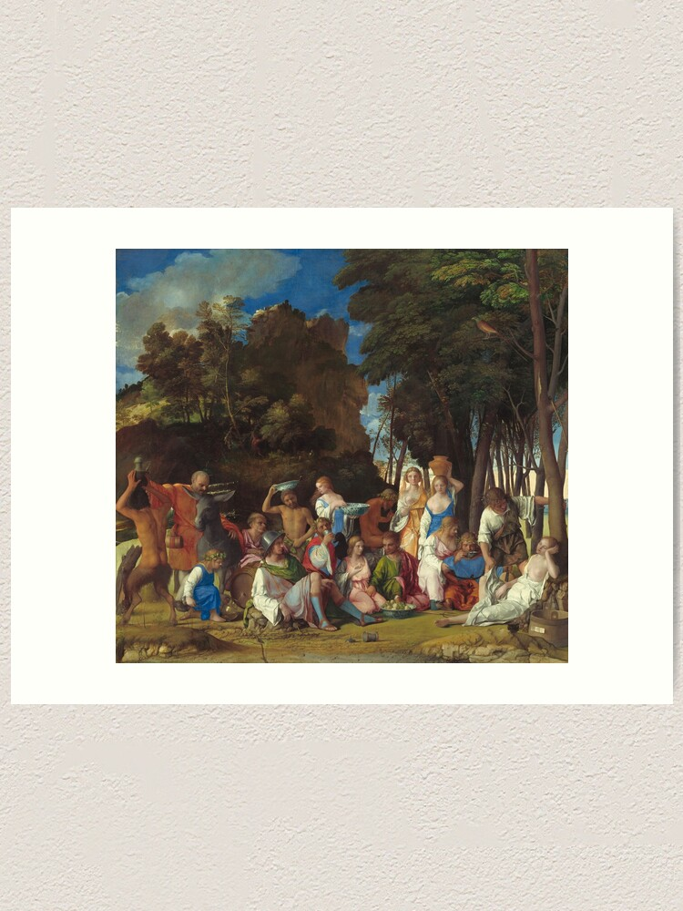 Alternate view of The Feast of the Gods Painting by Giovanni Bellini and Titian Art Print