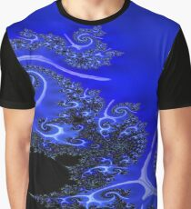 Wet Blue Fractal Abstract  Graphic T-Shirt