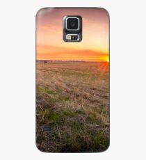 Farming sunset Case/Skin for Samsung Galaxy
