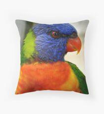 I Am An Eye Catcher.. That Nobody Can Deny!! - Rainbow Lorikeet - NZ Throw Pillow