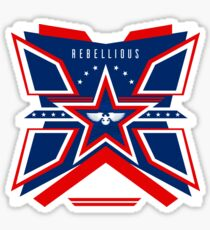 Rebellious. Wings of Freedom. Sticker