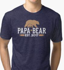 Papa Bear Est. 2017 Tri-blend T-Shirt