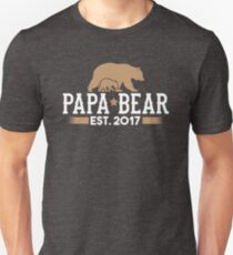 Papa Bear Est. 2017 Unisex T-Shirt
