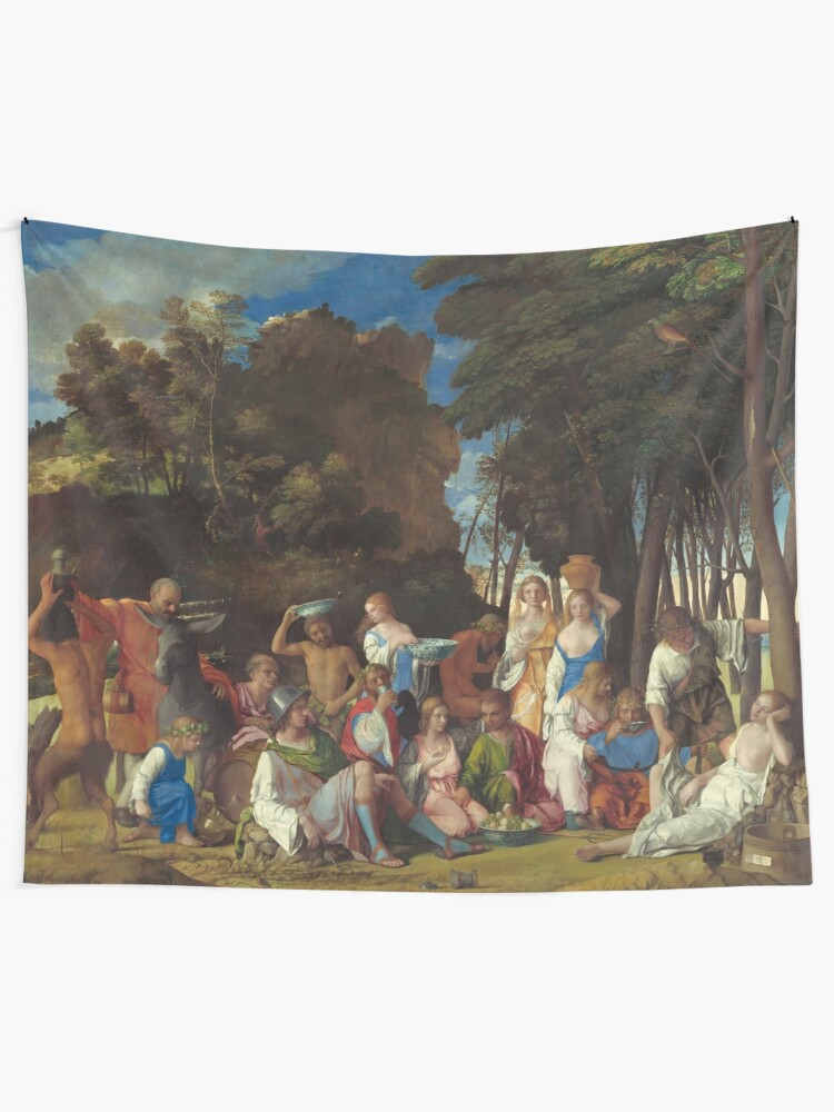 Alternate view of The Feast of the Gods Painting by Giovanni Bellini and Titian Tapestry