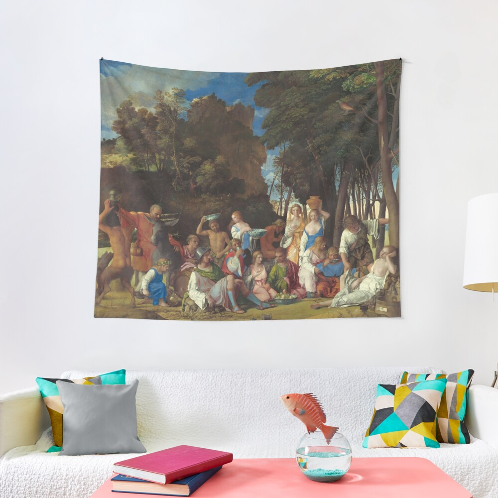 The Feast of the Gods Painting by Giovanni Bellini and Titian Tapestry