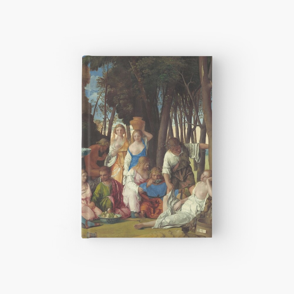 The Feast of the Gods Painting by Giovanni Bellini and Titian Hardcover Journal