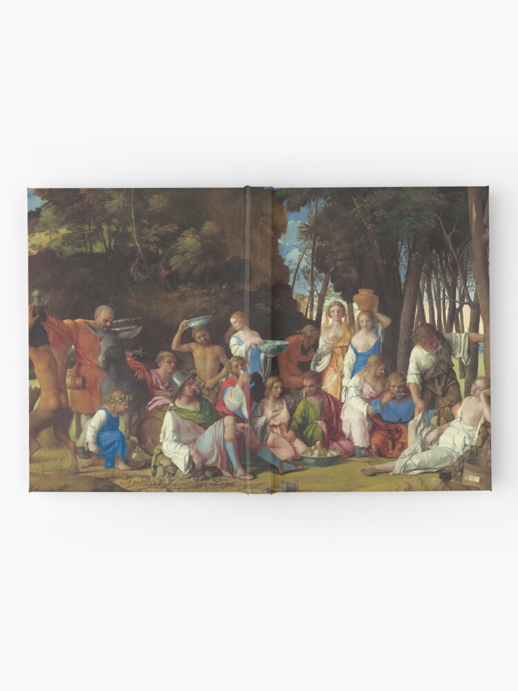 Alternate view of The Feast of the Gods Painting by Giovanni Bellini and Titian Hardcover Journal
