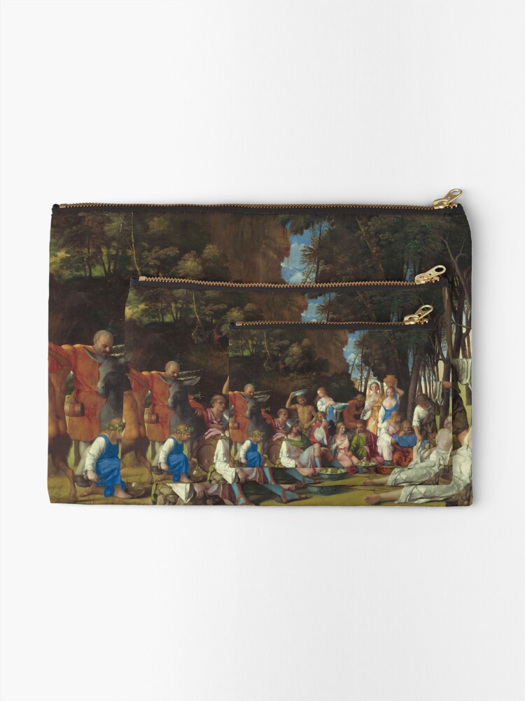 Alternate view of The Feast of the Gods Painting by Giovanni Bellini and Titian Zipper Pouch