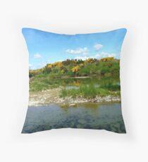 Trickling Down! - Still Pools - Oriti River Soutland Throw Pillow