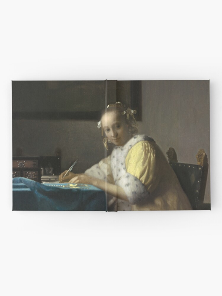 Alternate view of A Lady Writing Oil Painting by Johannes Vermeer Hardcover Journal