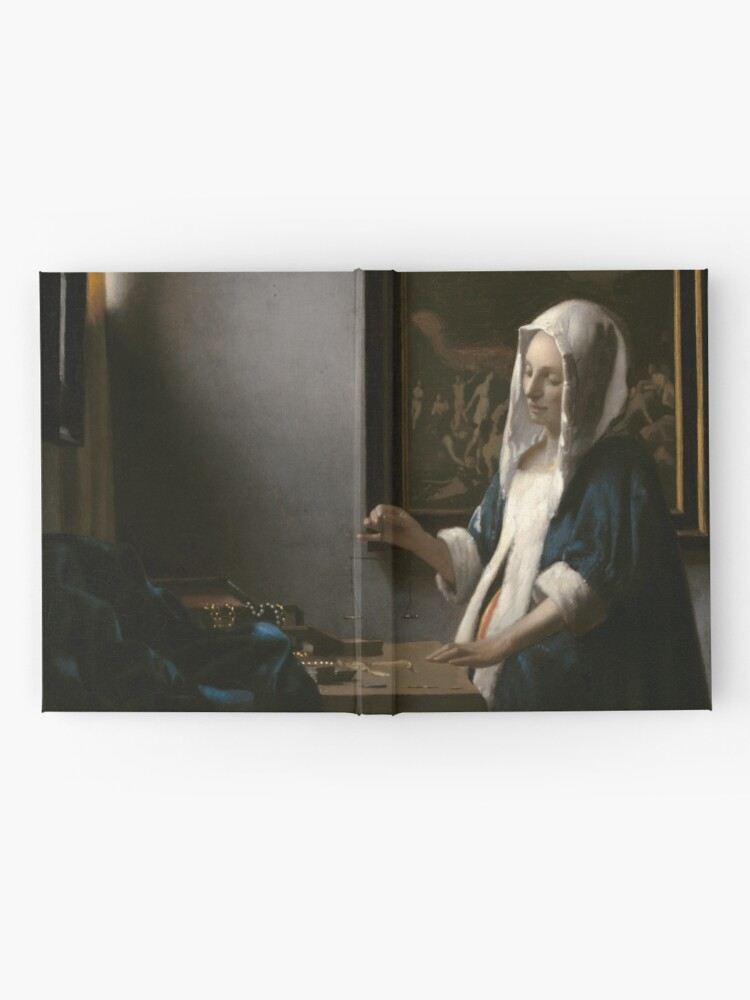 Alternate view of Woman Holding a Balance Oil Painting by Johannes Vermeer Hardcover Journal