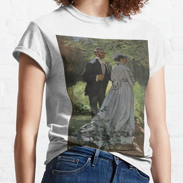 Bazille and Camille Painting by Claude Monet Classic T-Shirt