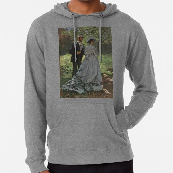 Bazille and Camille Painting by Claude Monet Lightweight Hoodie