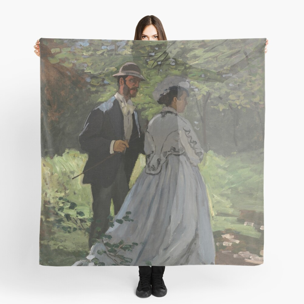 Bazille and Camille Painting by Claude Monet Scarf