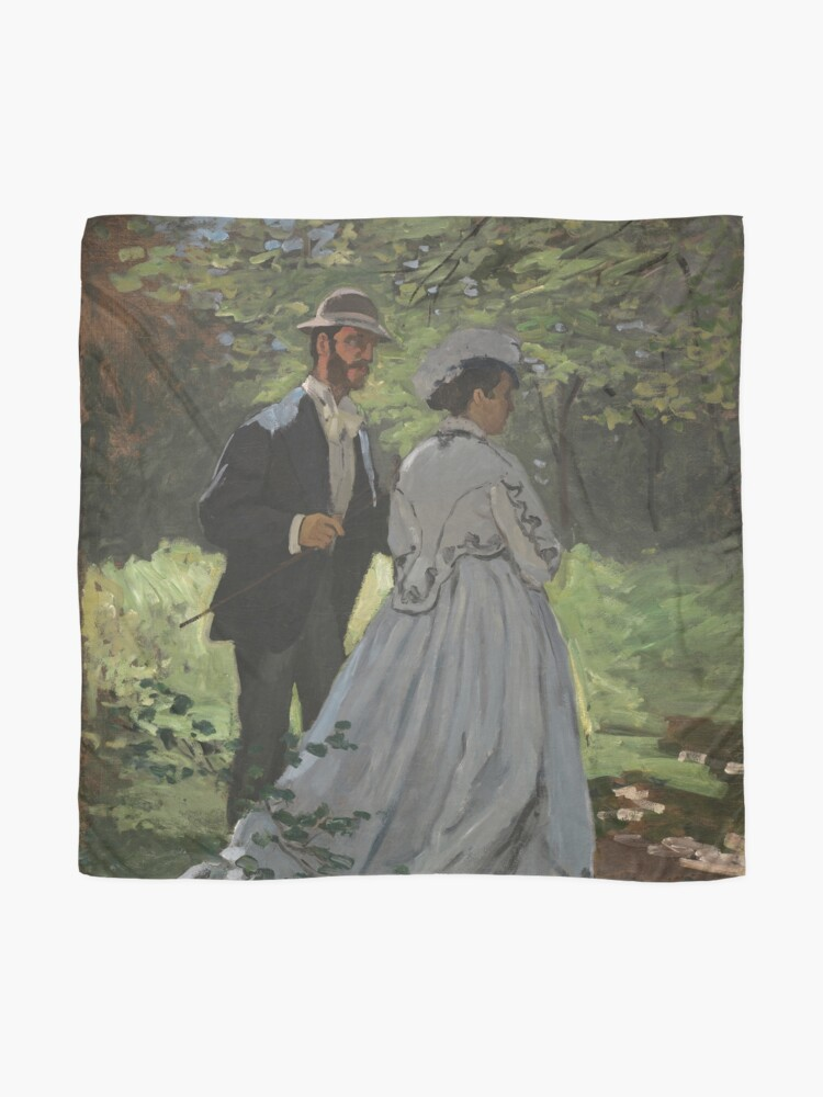 Alternate view of Bazille and Camille Painting by Claude Monet Scarf