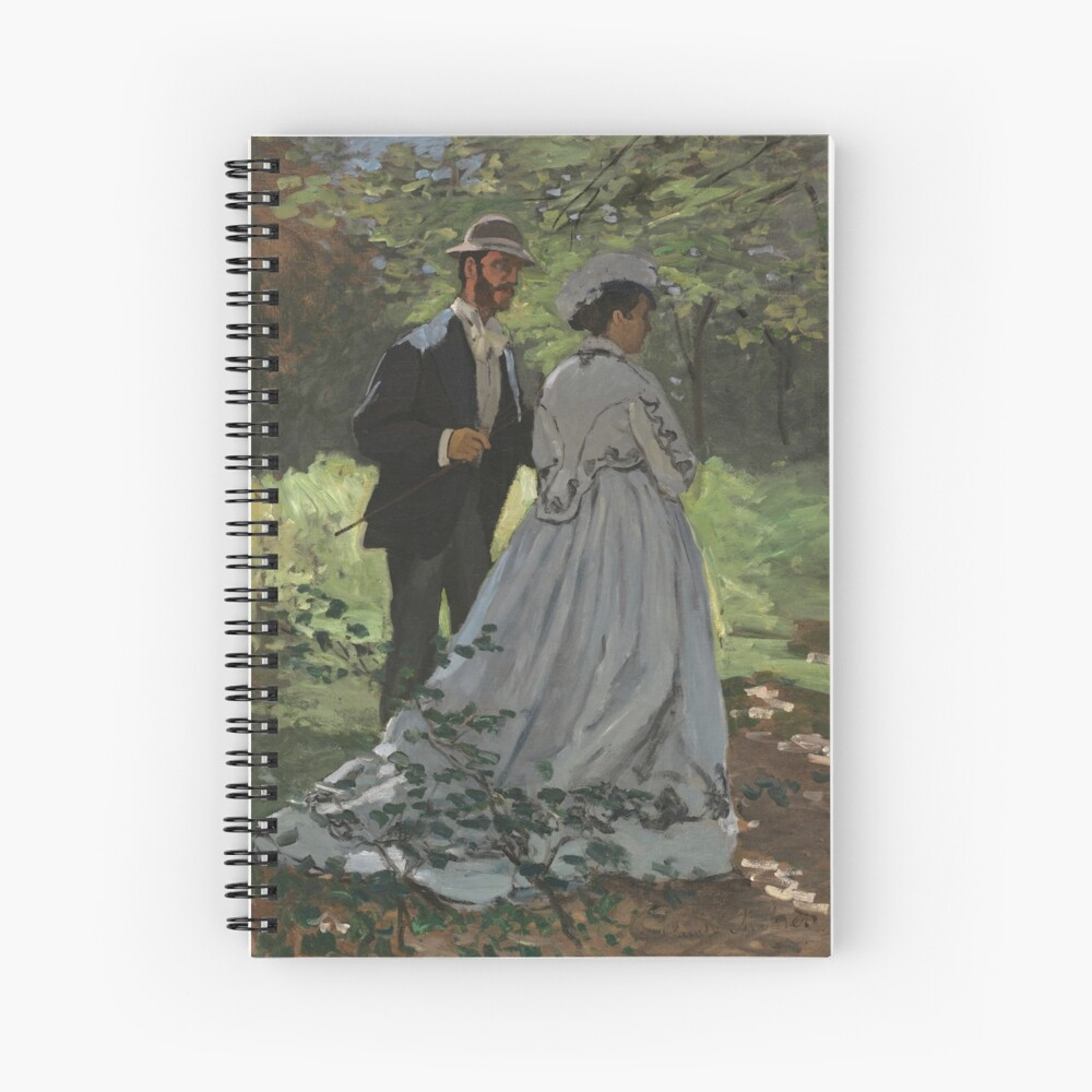 Bazille and Camille Painting by Claude Monet Spiral Notebook