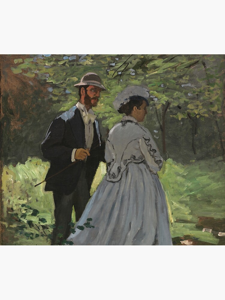 Bazille and Camille Painting by Claude Monet by podartist