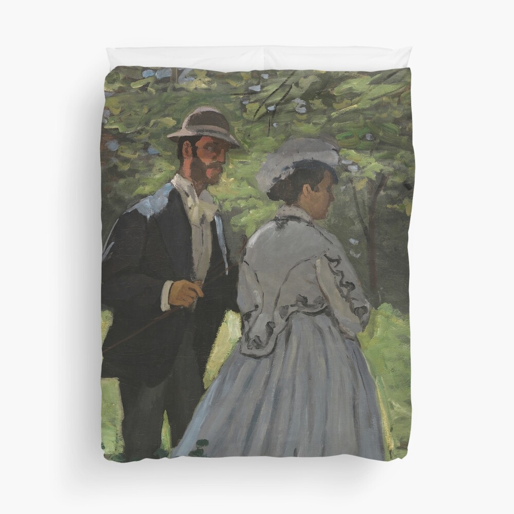 Bazille and Camille Painting by Claude Monet Duvet Cover