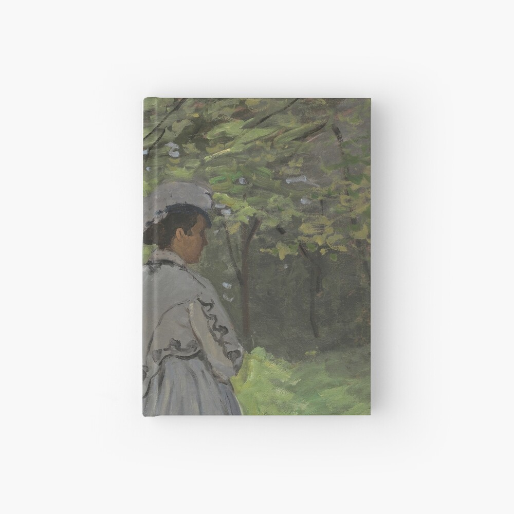Bazille and Camille Painting by Claude Monet Hardcover Journal