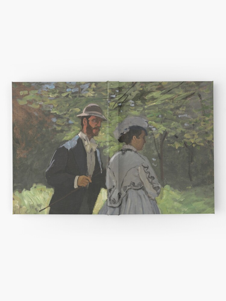 Alternate view of Bazille and Camille Painting by Claude Monet Hardcover Journal