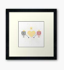 TV Love Framed Print